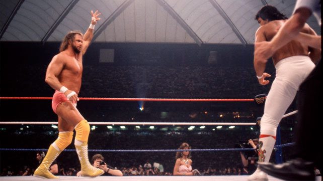 Randy Savage and Ricky Steamboat at WrestleMania 3