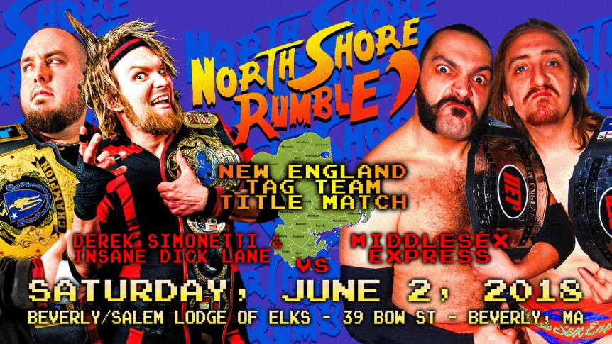 North Shore Rumble: 6/2 Pro WrestlingFundraiser