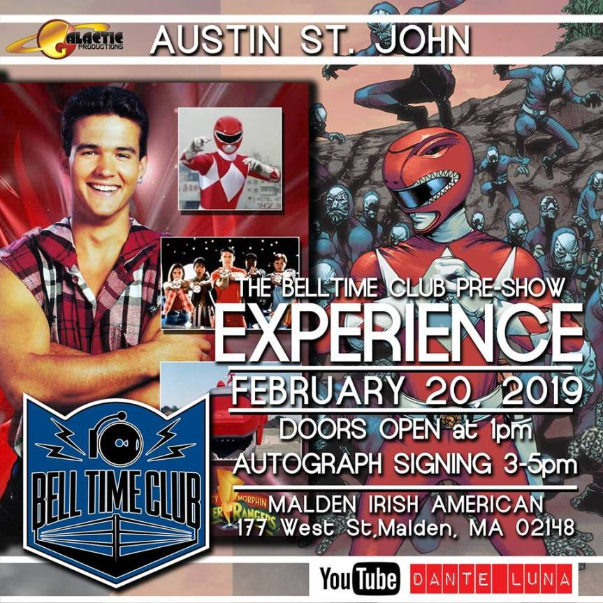 Wrestling and Power Rangers on 2/20 in Malden,MA