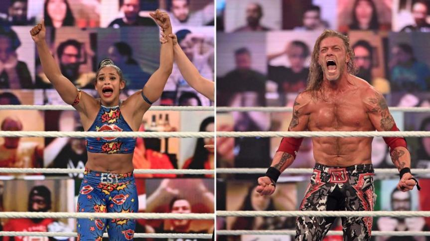 Edge and Bianca Belair Reign at the RoyalRumble